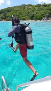 Scuba diving in St. John