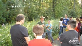Marty Simon conducting a plant walk at Indian Rock in 2013