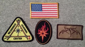 Patches should represent the code of the organization. Symbolism runs deep in these. Estela Wilderness Education lives by the code rooted in the values that made each of these great. Clockwise from Top: American Flag, Sayoc Kali, Estela Wilderness Education and the Wilderness Learning Center