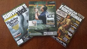 Estela Wilderness Education appears in Survivor's Edge, Self-Reliance Illustrated and American Frontiersman simultaneously!