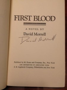 First Blood Autographed