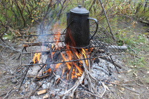 Campfire coffee pot