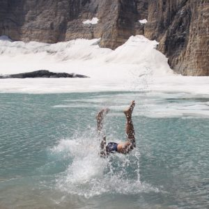 Diving into frigid waters